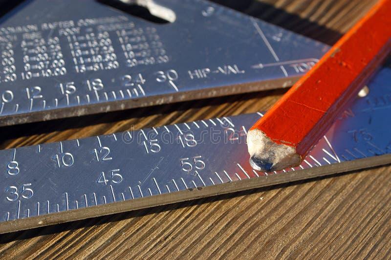 De hulpmiddelen van timmerlieden stock foto's