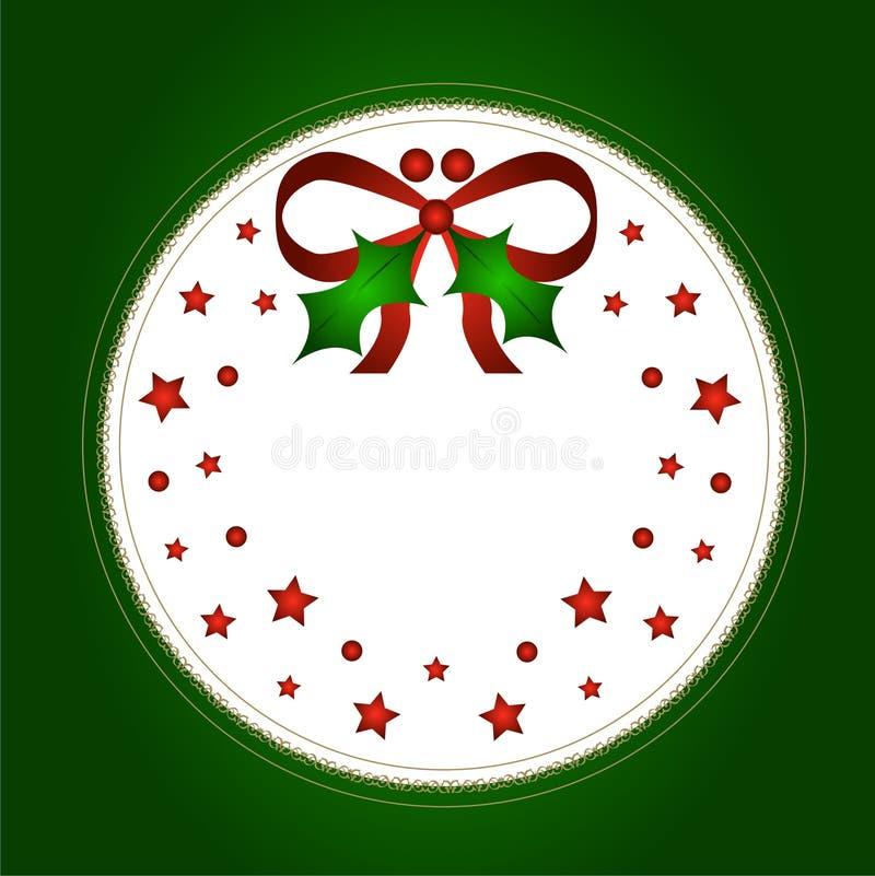 De hulst en de boog van Kerstmis royalty-vrije illustratie