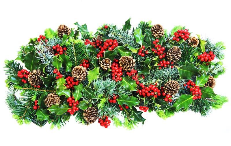 De Hulst en het Gebladerte van Kerstmis royalty-vrije stock afbeeldingen