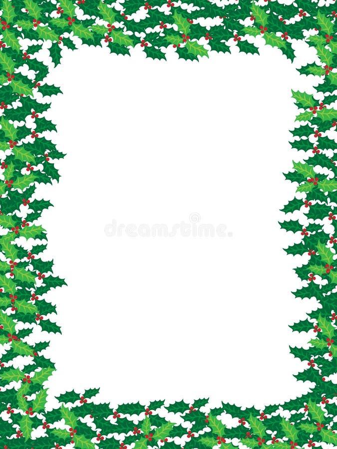 De hulstframe van Kerstmis royalty-vrije illustratie