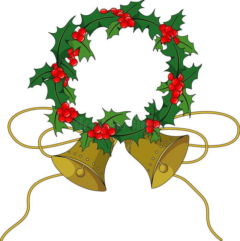 De hulsthulst van Kerstmis royalty-vrije illustratie
