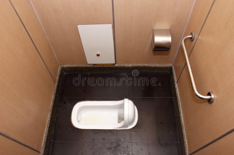 De hurkende Box van de Badkamers van het Toilet royalty-vrije stock foto's