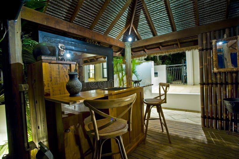 De Hut van Bali met staaf royalty-vrije stock foto's