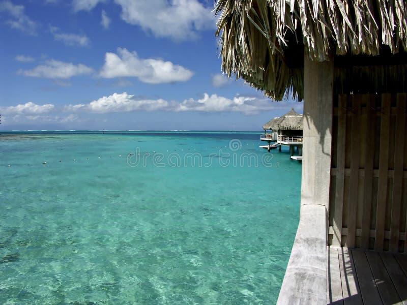 De Hut van de lagune royalty-vrije stock afbeeldingen