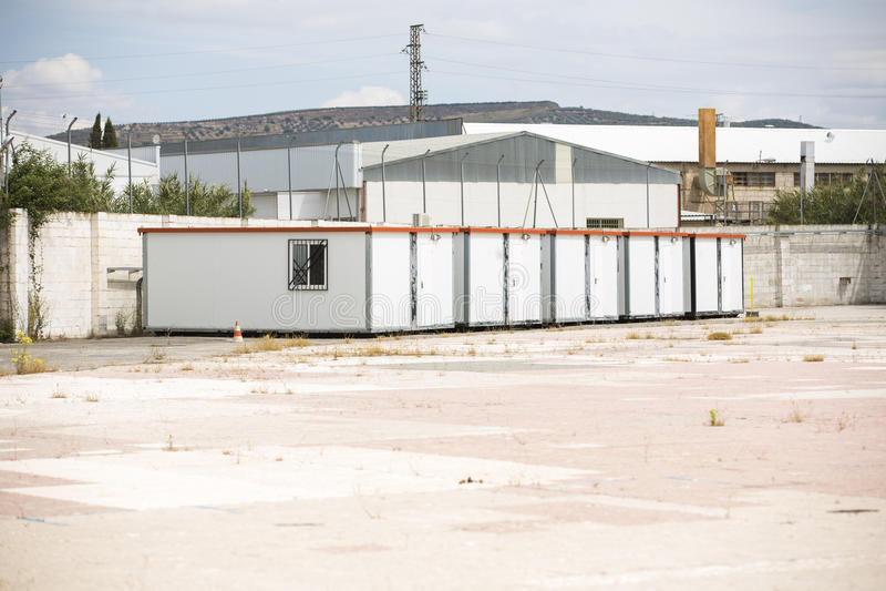 De hut van de metaalplaats royalty-vrije stock foto's