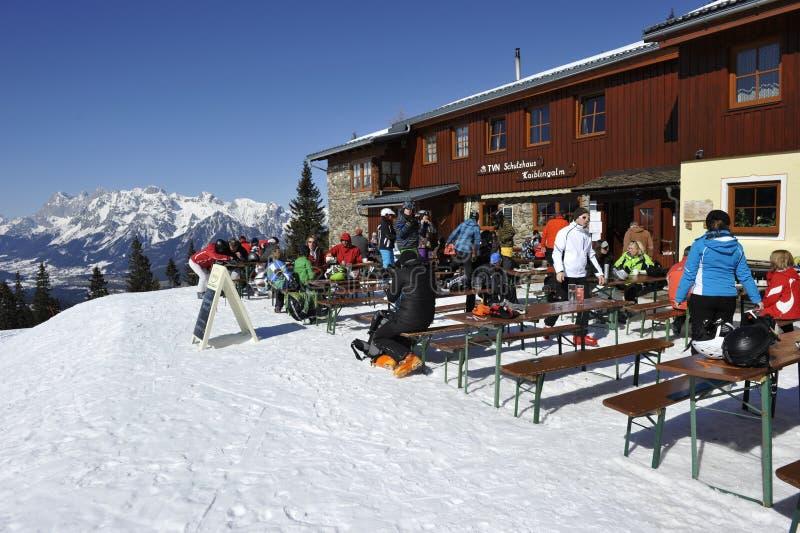 De Hut van de ski stock foto