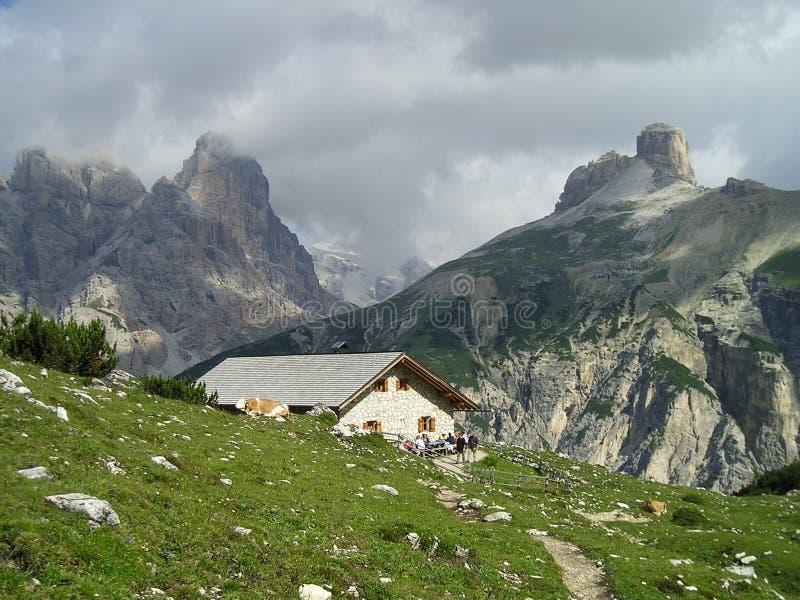 De hut van herders stock foto's