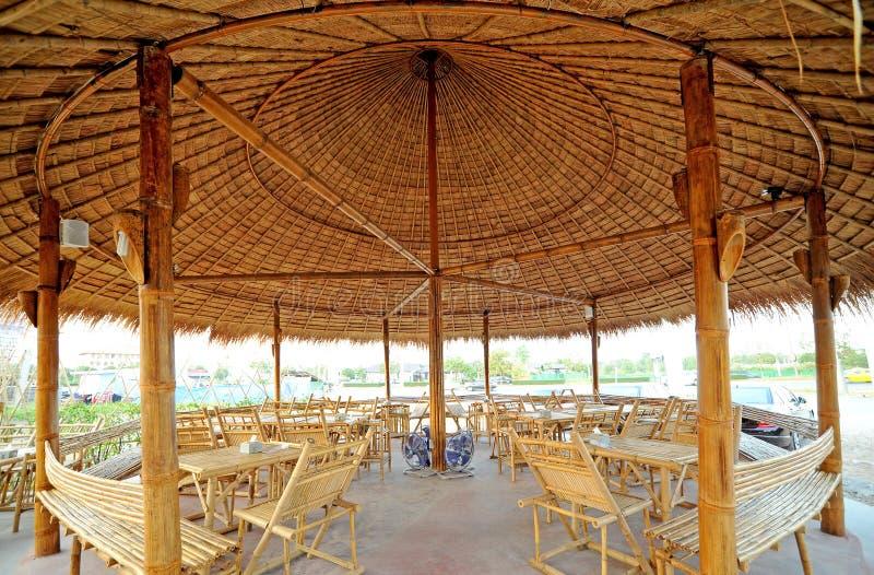 De hut van het bamboe stock foto