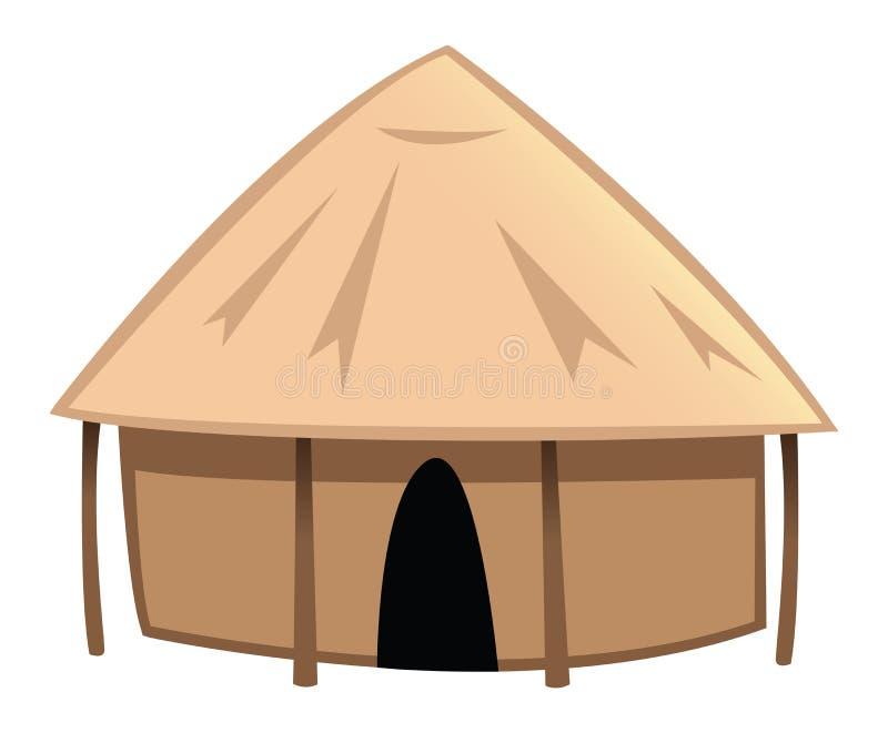 De hut van het dorp stock illustratie