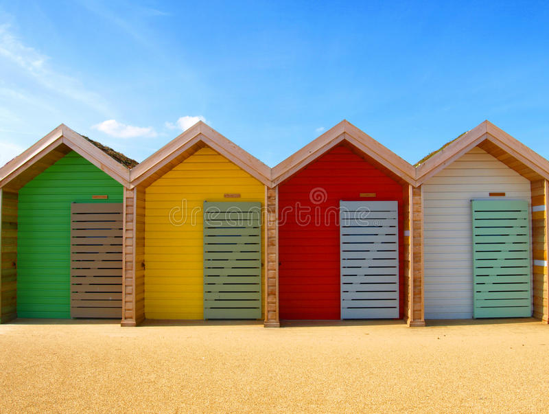 De hut van het strand stock fotografie