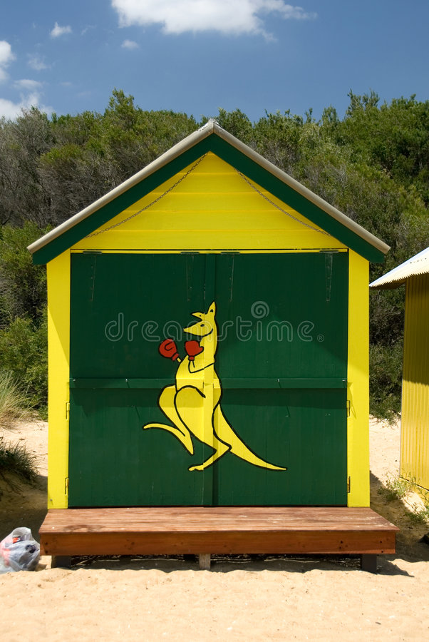 De Hut van het strand stock foto
