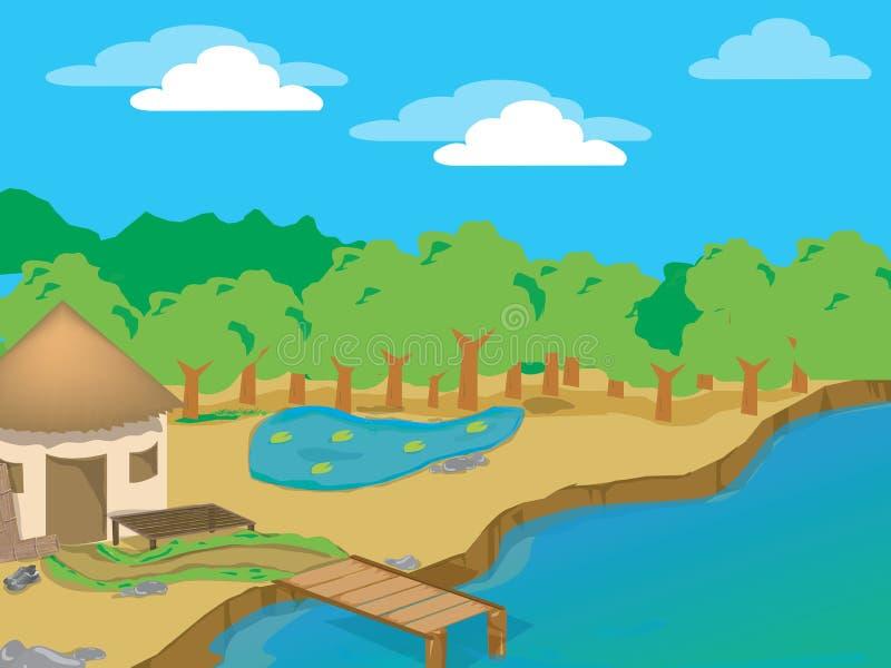 De hut van het strand vector illustratie