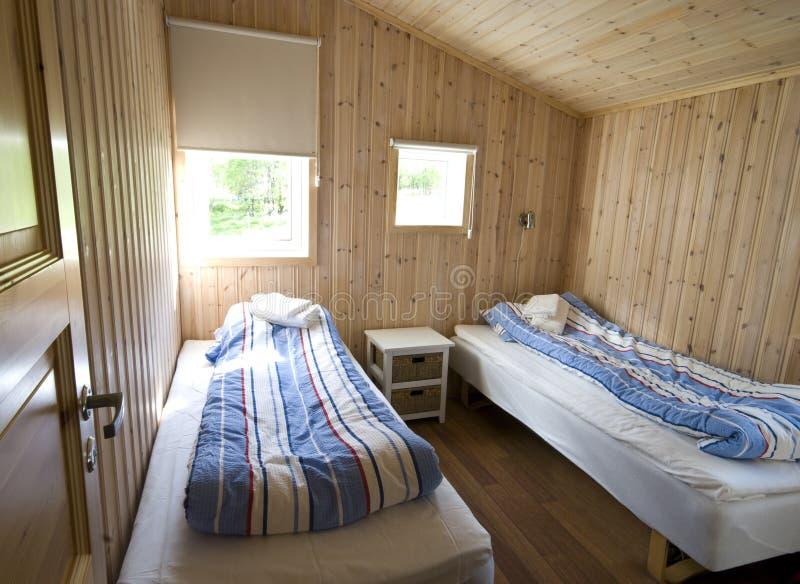 De hut van Noorwegen binnen stock foto's