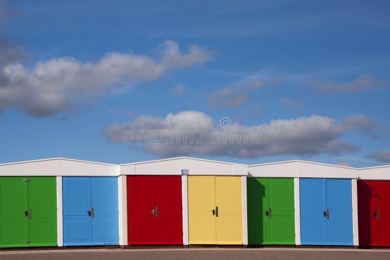 De hutten van het strand stock foto