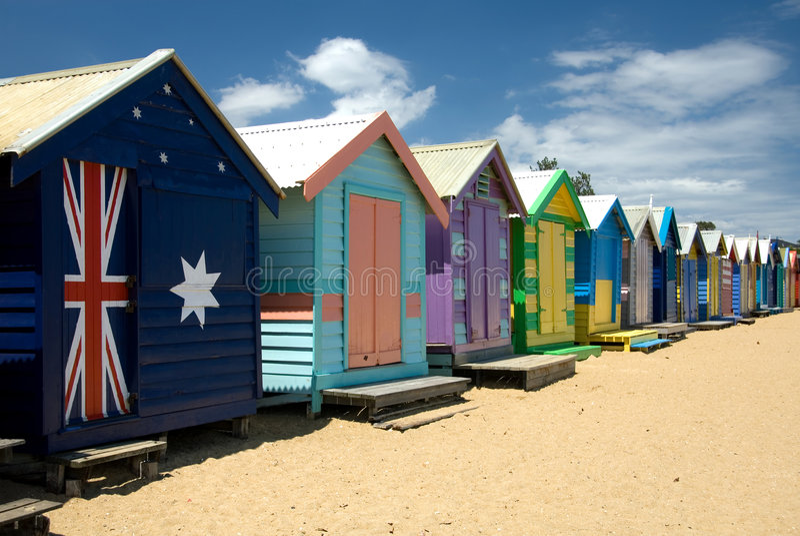 De Hutten van het strand royalty-vrije stock afbeelding
