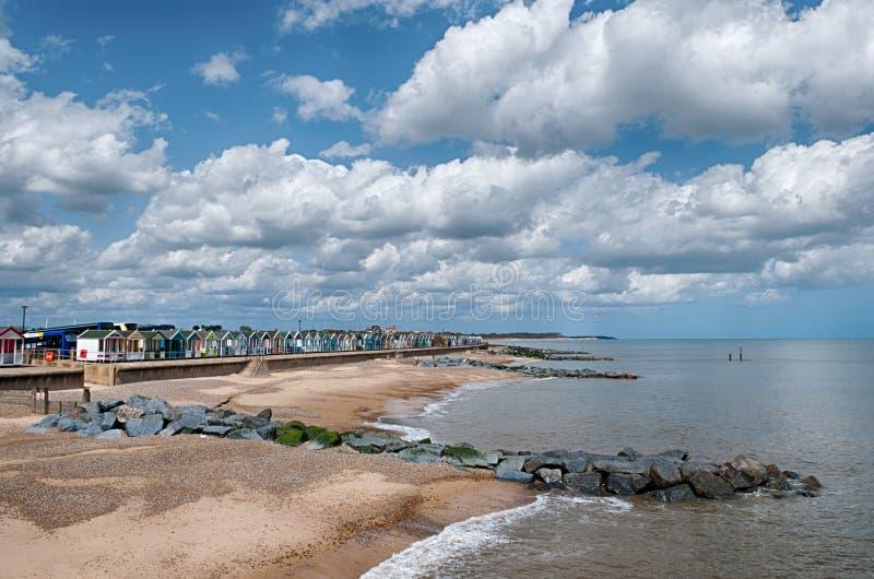 De hutten van het Strand van Southwold royalty-vrije stock foto