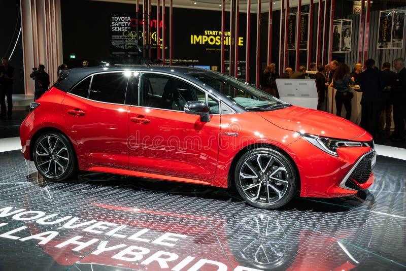 De hybride auto van Toyota Corolla stock afbeeldingen