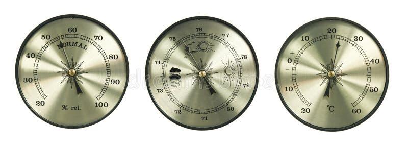 De hygrometerbarometer van de thermometer vector illustratie
