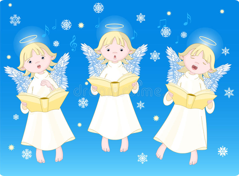 De hymnes van Kerstmis vector illustratie