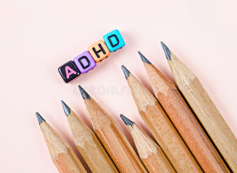 De Hyperactiviteitwanorde van het aandachtstekort of ADHD-concept royalty-vrije stock foto's