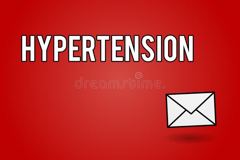 De Hypertensie van de handschrifttekst Concept die Medische voorwaarde betekenen waarin de bloeddruk uiterst hoog is vector illustratie