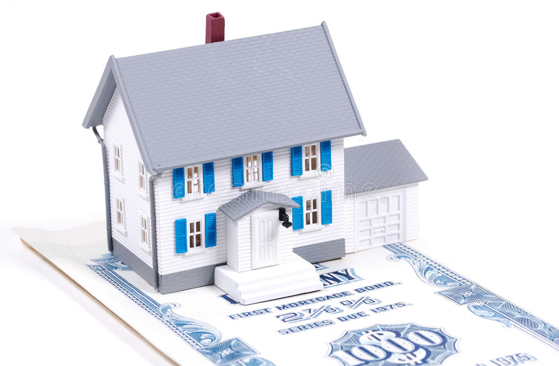 De Hypotheek van het huis stock afbeelding