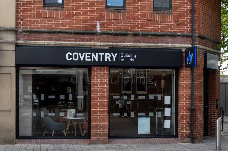 De Hypotheekbank Swindon van Coventry stock afbeeldingen