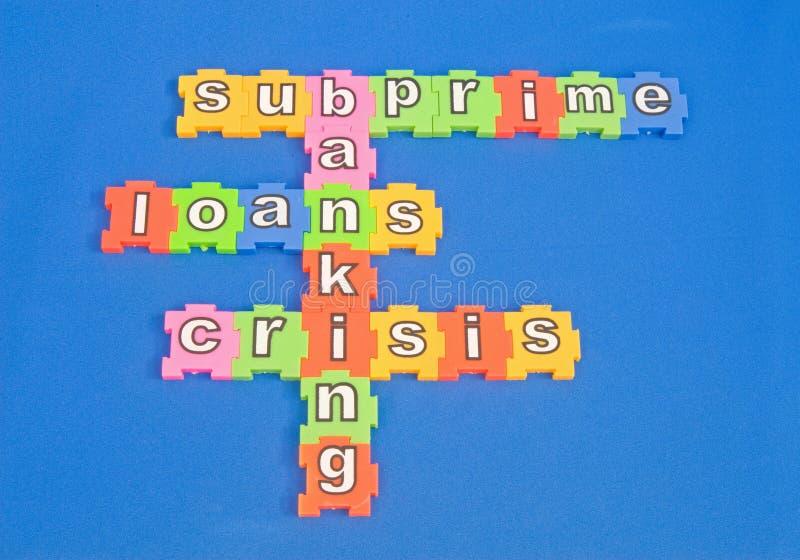 De hypotheekleningen van Subprime. stock afbeelding