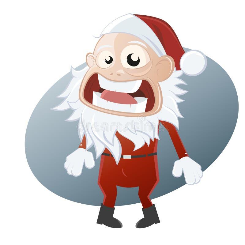 De hysterische Kerstman royalty-vrije illustratie