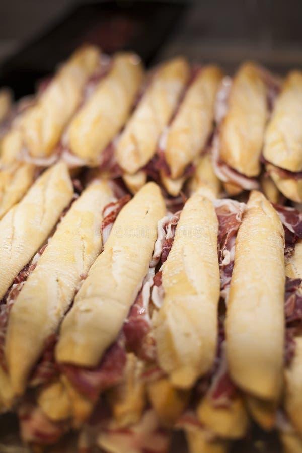 De Iberische sandwiches van hampanini stock foto