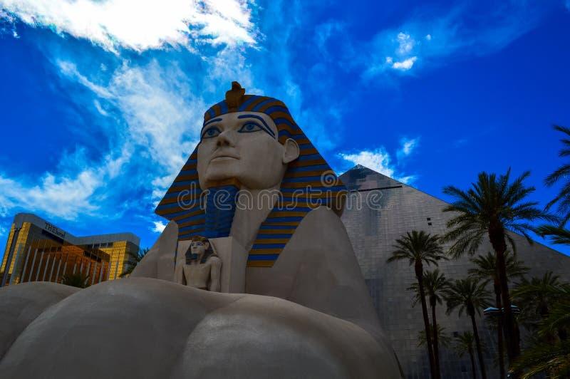 De iconische Sfinx buiten het Luxor-Hotel, Las Vegas, Nevada, de V.S. royalty-vrije stock foto