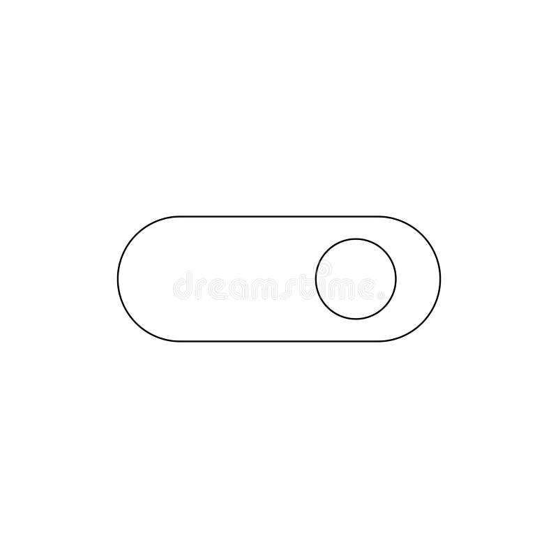 De icono de palanca del esquema del interruptor Las muestras y los s?mbolos se pueden utilizar para la web, logotipo, app m?vil,  libre illustration