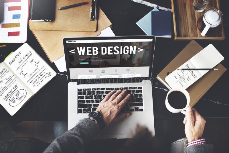 De Ideeën die van de de Websitehomepage van het Webontwerp Concept programmeren royalty-vrije stock afbeeldingen