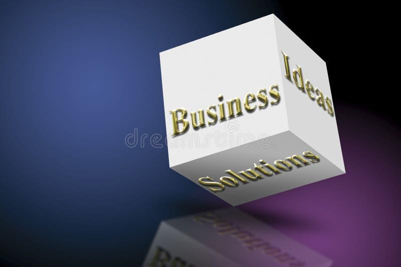 De Ideeën en de Oplossingen van de marketing vector illustratie