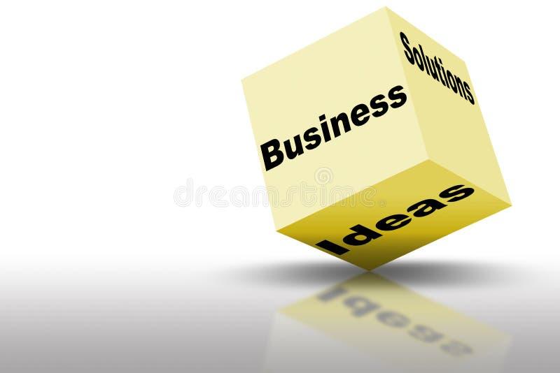 De Ideeën en de Oplossingen van de marketing stock illustratie