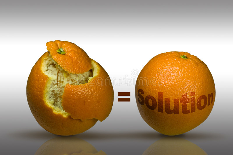 De ideeën en de Oplossingen van de marketing   stock afbeeldingen