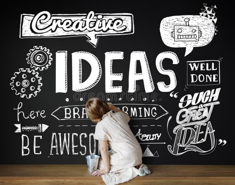 De ideeën inspireren Creatief het Denken Motivatieconcept royalty-vrije stock foto