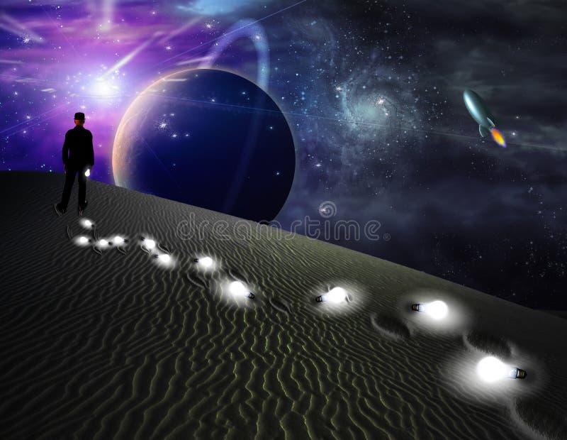 De Ideeën van de Wereld van de woestijn stock illustratie