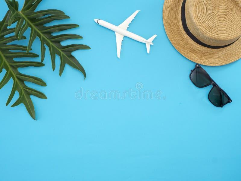 De ideeën van de de zomerreis en strandvoorwerpen royalty-vrije stock foto's