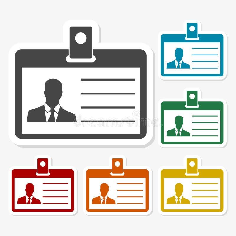 De identificatie van de bestuurders` s vergunning, identiteitskaart van het Perskenteken of het pictogram van de Identificatiekaa vector illustratie