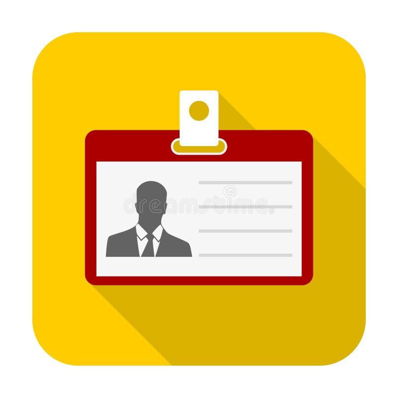 De identificatie van de bestuurders` s vergunning, identiteitskaart van het Perskenteken of het pictogram van de Identificatiekaa royalty-vrije illustratie