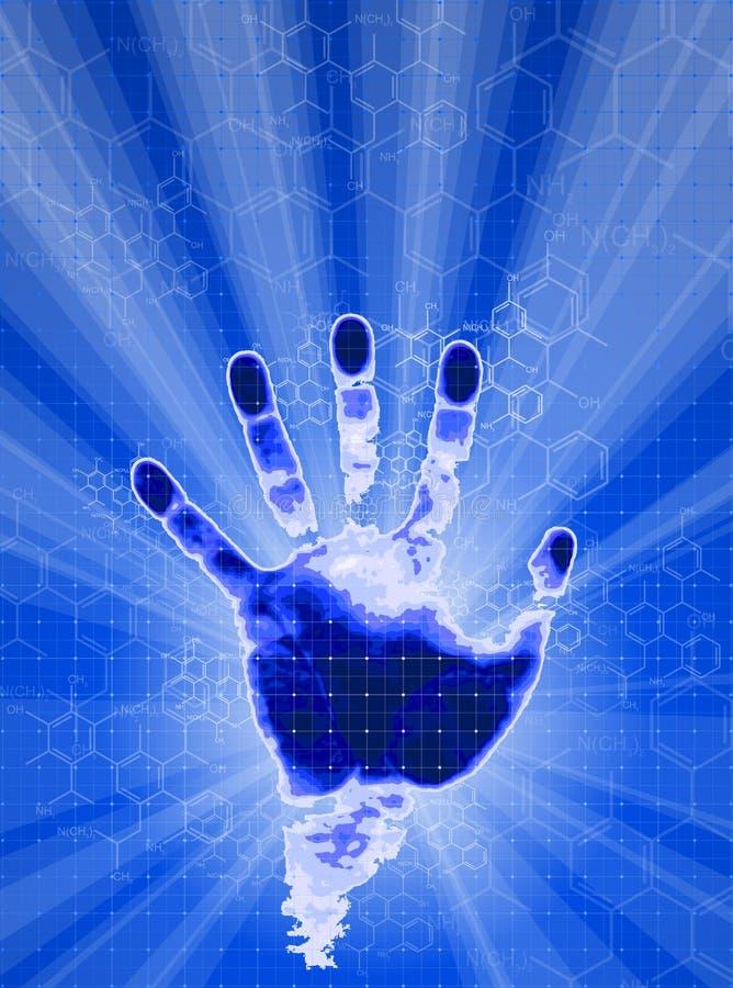 De identificatie van de hand royalty-vrije illustratie