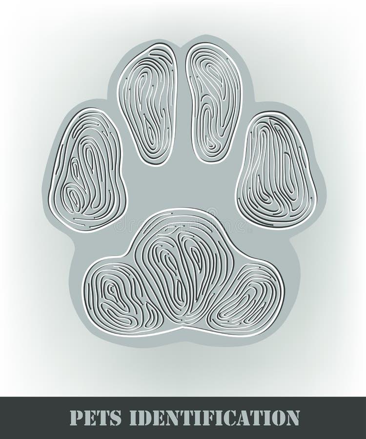 De identificatie van huisdieren vector illustratie