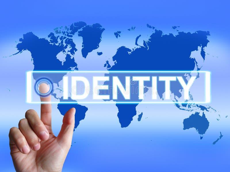 De identiteitskaart vertegenwoordigt wereldwijd of vector illustratie