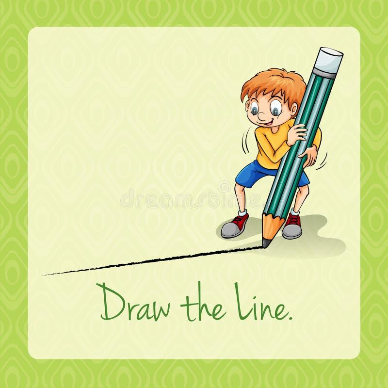 De idiomatische uitdrukking trekt de lijn vector illustratie