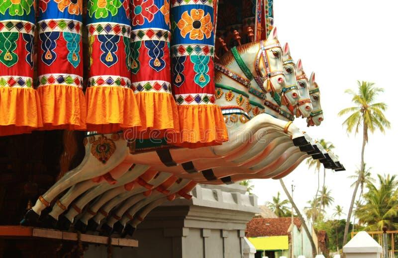 De idolen van het rathapaard van het tempelfestival royalty-vrije stock fotografie