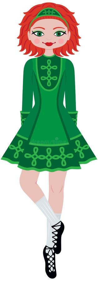 De Ierse Danser van de Stap van het Meisje stock illustratie