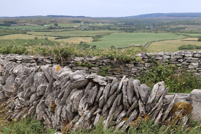 De Ierse provincie Clare Ireland 1 van de steenmuur stock foto's