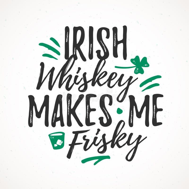 De Ierse Whisky maakt me Dartel vector illustratie