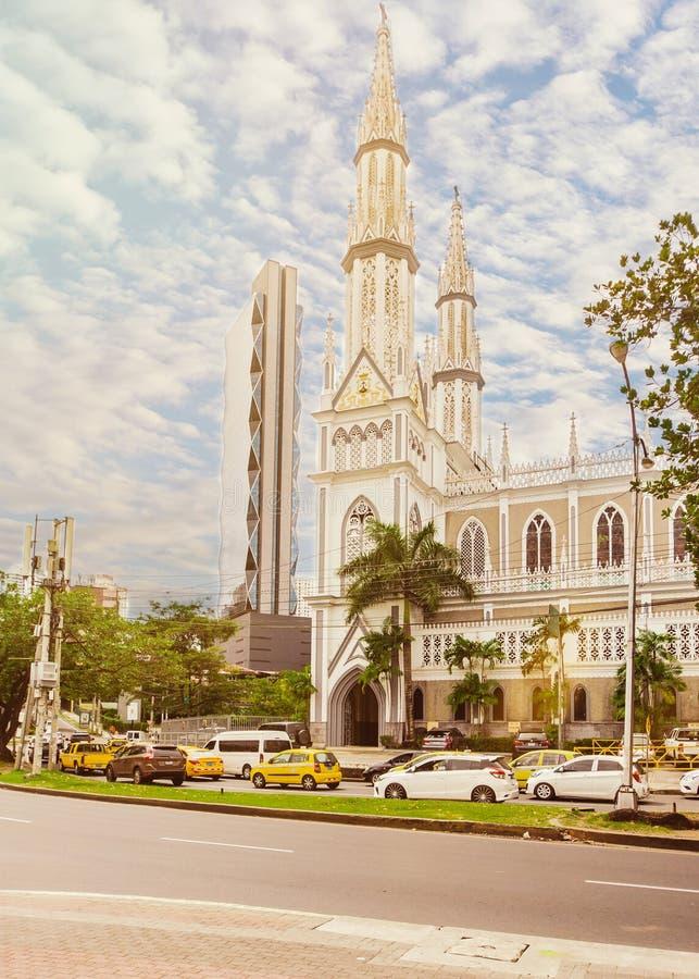 ` De Iglesia del Carmen do ` da igreja na Cidade do Panamá imagem de stock royalty free